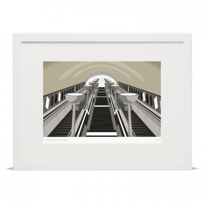 Place in Print South London Prints Clapham South Stairs Art Print