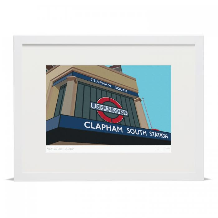 Place in Print South London Prints Clapham South Tube Underground Station Art Print