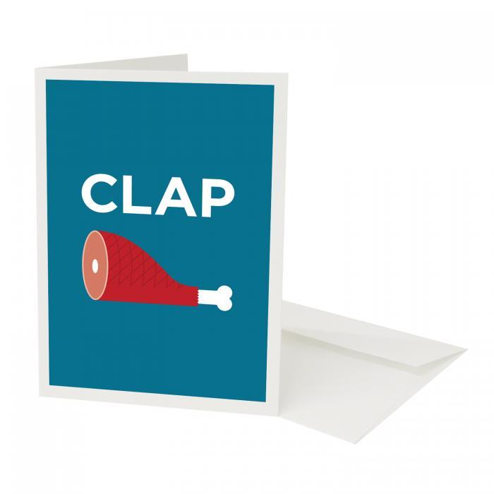 Place in Print Pate Clapham Neighbourhood Pun Greetings Card