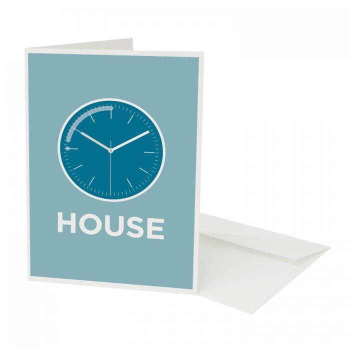 Place in Print Pate Clockhouse Neighbourhood Pun Greetings Card