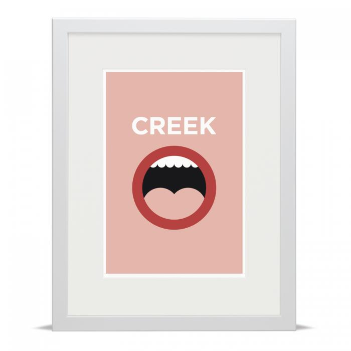 Place in Print Creekmouth Pate Neighbourhood Pun Art Print