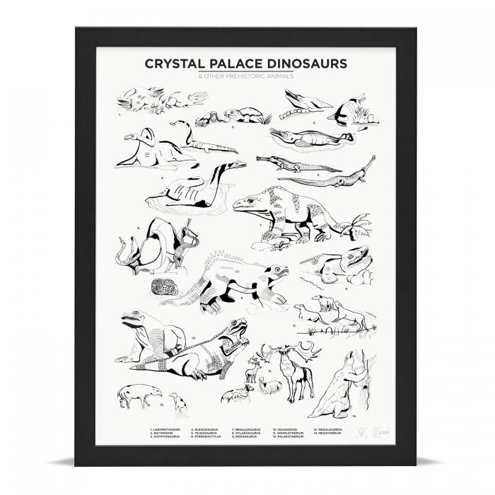 Place in Print Crystal Palace Dinosaurs Art Print Limited Edition