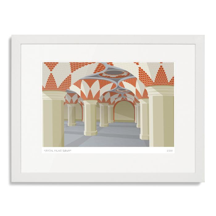 South London Prints Crystal Palace Subway Art Poster Print