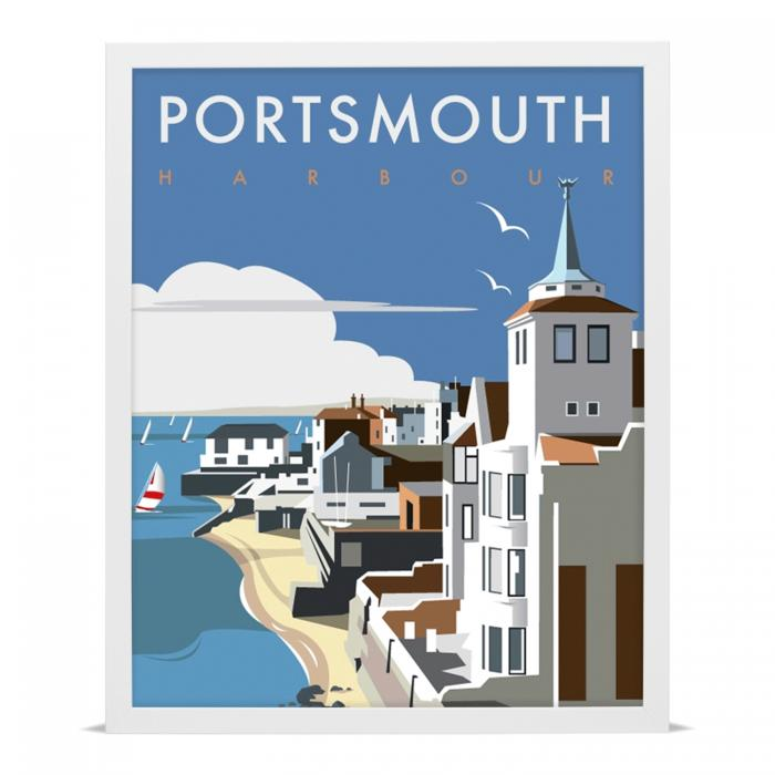 Place in Print Dave Thompson Portsmouth Harbour Travel Poster Art Print