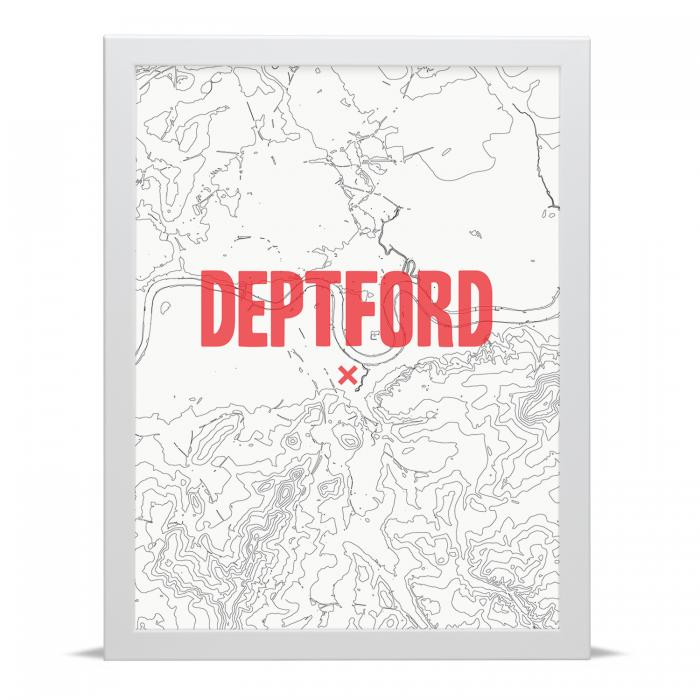 Place in Print Deptford Contour Map Art Print