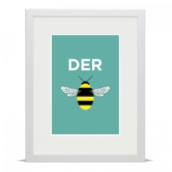 Place in Print Pate Derby Neighbourhood Pun Art Print