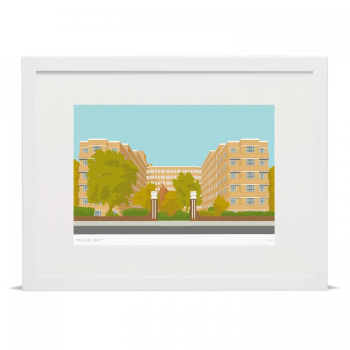 Place in Print Du Cane Court Balham Art Print