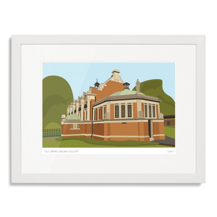 Dulwich College Library Art Print