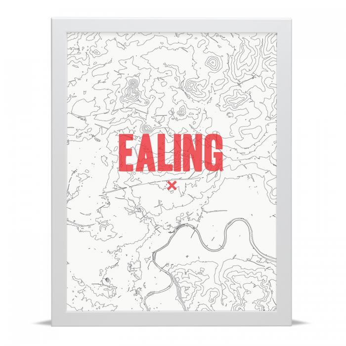 Place in Print Ealing Contour Map Art Print