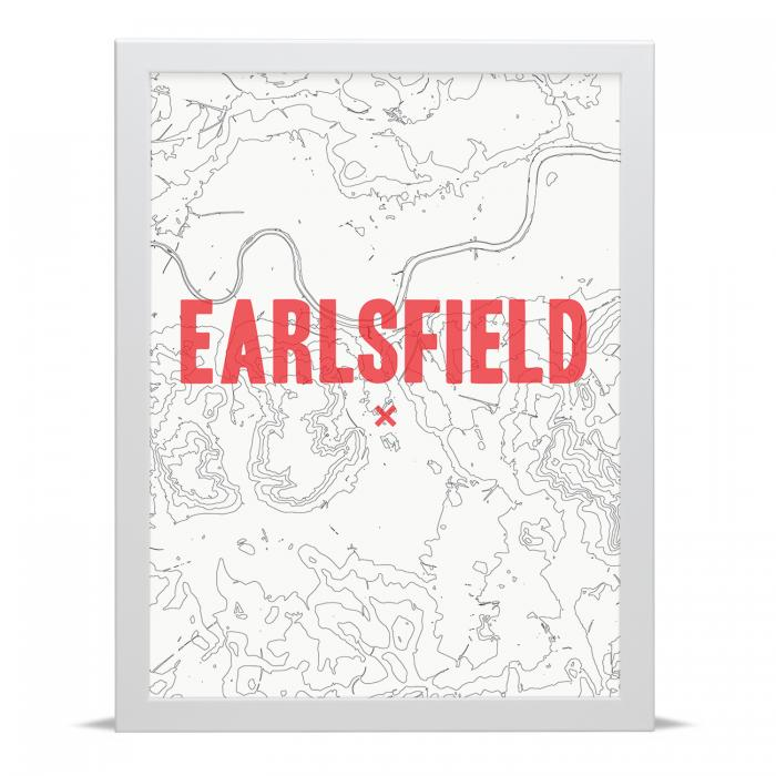 Place in Print Earlsfield Contour Map Art Print