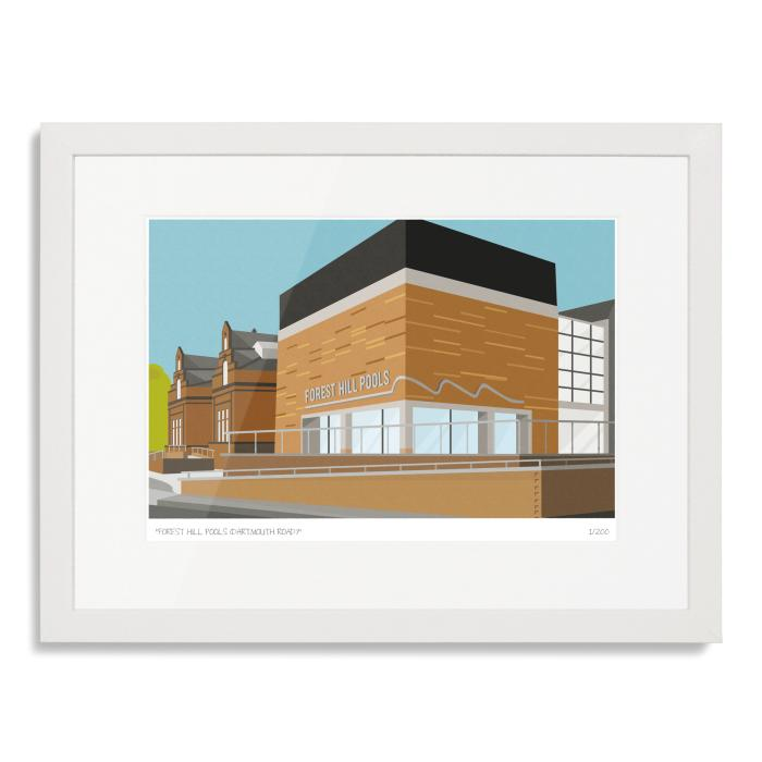 Forest Hill Pools Dartmouth Road Art Poster Print