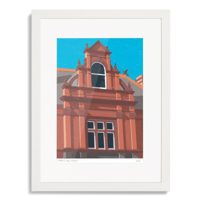 Forest Hill Pools SE23 Art Poster Print