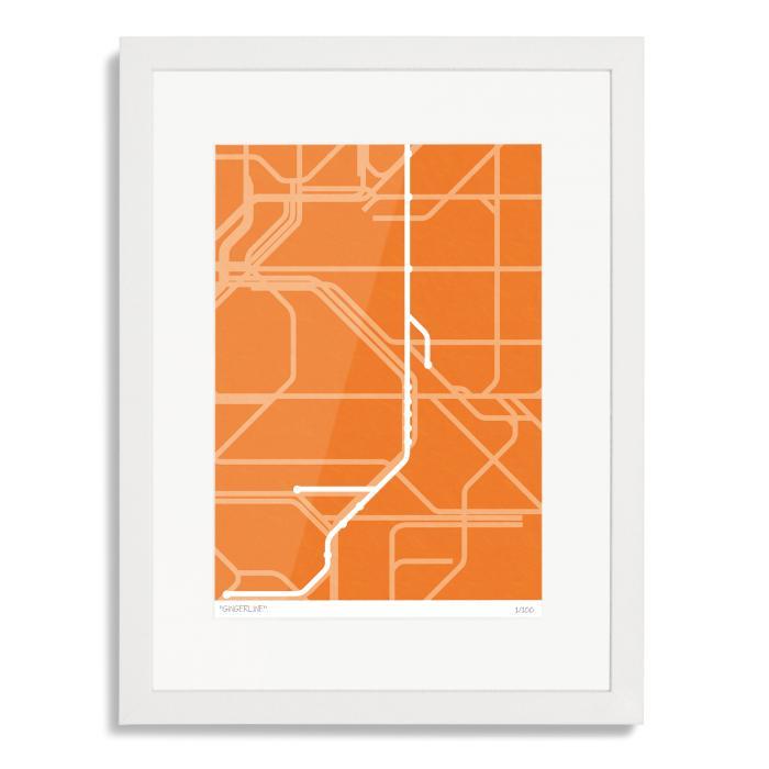 London Overground Gingerline Art Poster Print