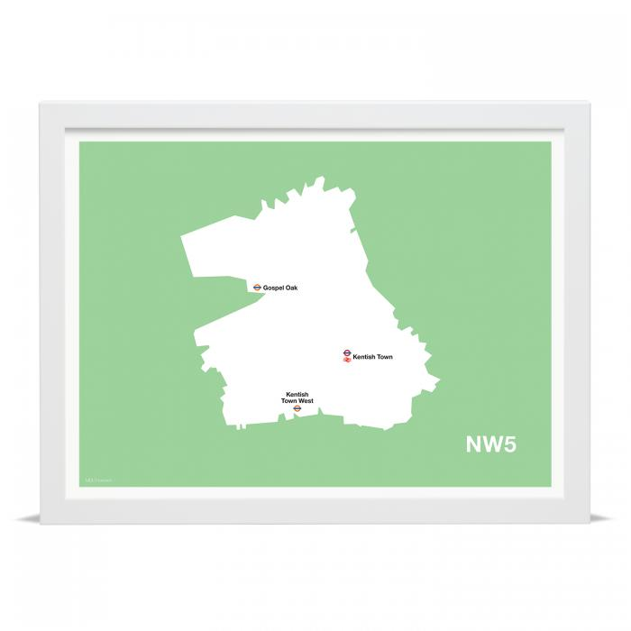 Place in Print MDLThomson NW5 Postcode Map Art Print