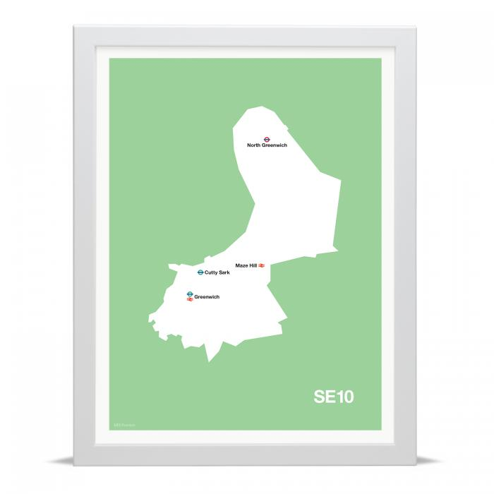 Place in Print MDLThomson SE10 Postcode Map Art Print