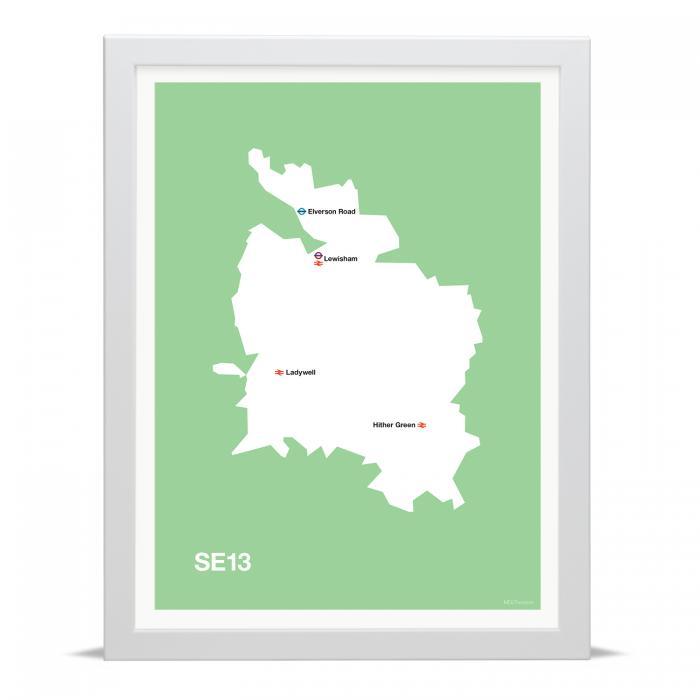 Place in Print MDLThomson SE13 Postcode Map Art Print