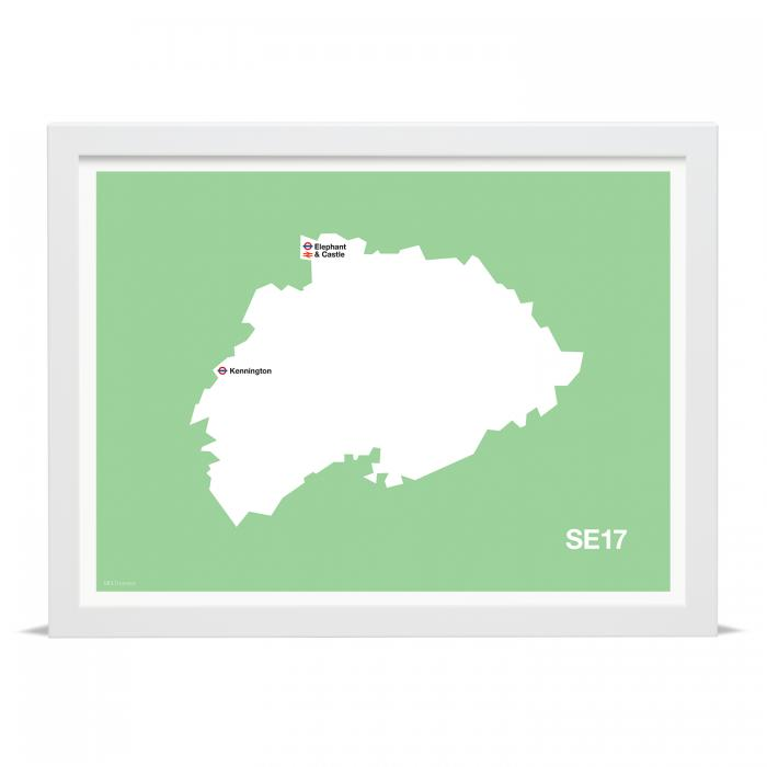 Place in Print MDLThomson SE17 Postcode Map Art Print