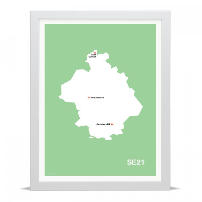 Place in Print MDLThomson SE21 Postcode Map Art Print