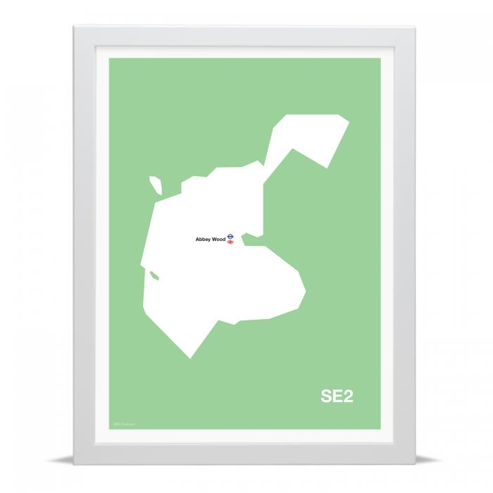 Place in Print MDLThomson SE2 Postcode Map Art Print