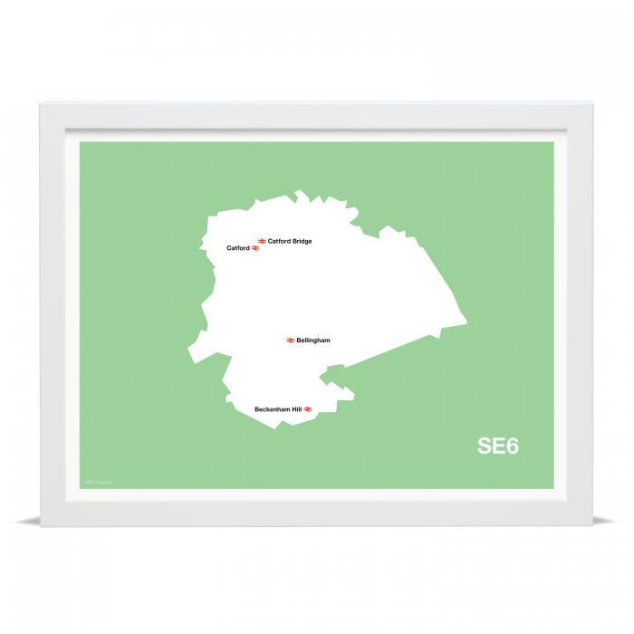 Place in Print MDLThomson SE6 Postcode Map Art Print