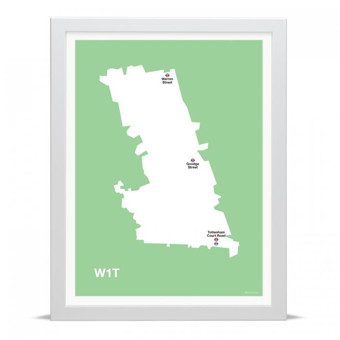 Place in Print MDLThomson W1T Postcode Map Art Print