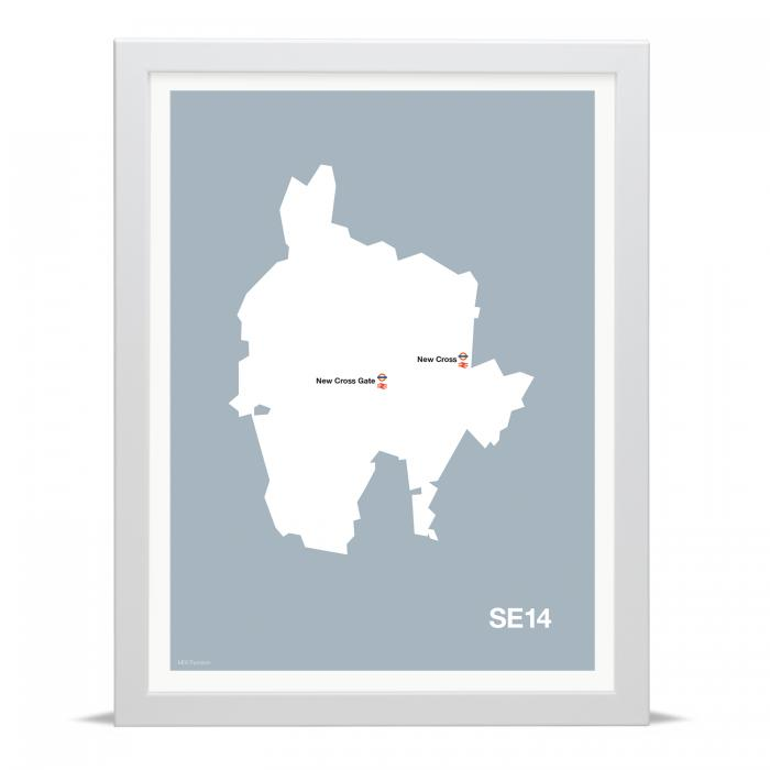 Place in Print MDLThomson SE14 Postcode Map Art Print