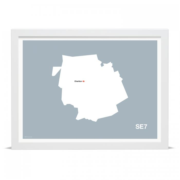Place in Print MDLThomson SE7 Postcode Map Art Print