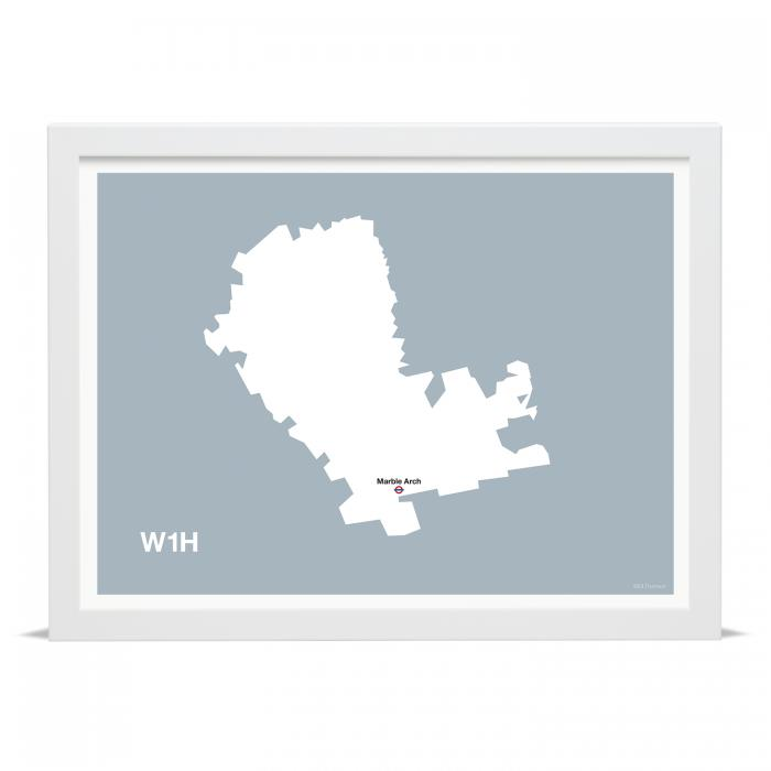 Place in Print MDLThomson W1H Postcode Map Art Print