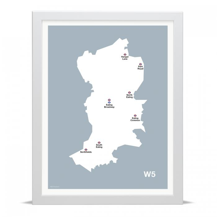Place in Print MDLThomson W5 Postcode Map Art Print