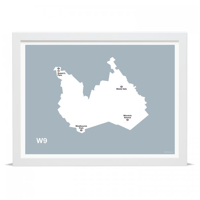Place in Print MDLThomson W9 Postcode Map Art Print