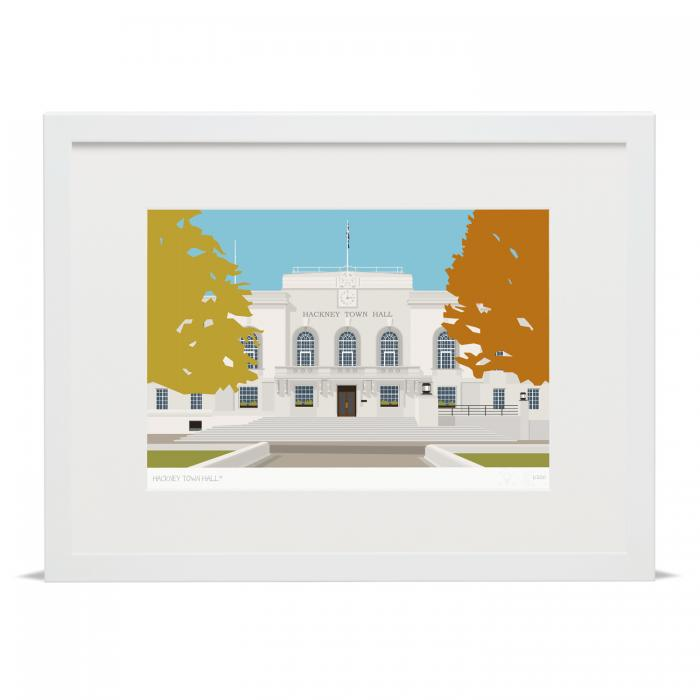 Place in Print Hackney Town Hall Art Poster Print