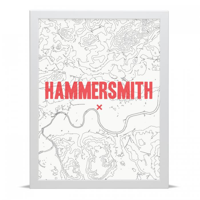 Place in Print Hammersmith Contour Map Art Print