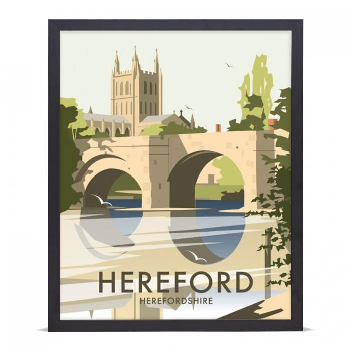 Place in Print Dave Thompson Hereford Travel Poster Art Print