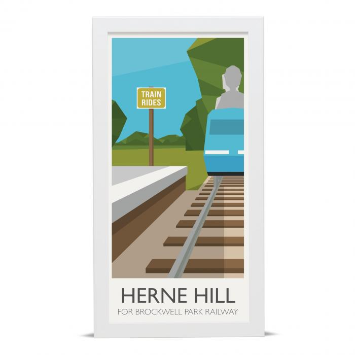 Place in Print Herne Hill Lammpost Banners Brockwell Park Miniature Railway Art Poster Print