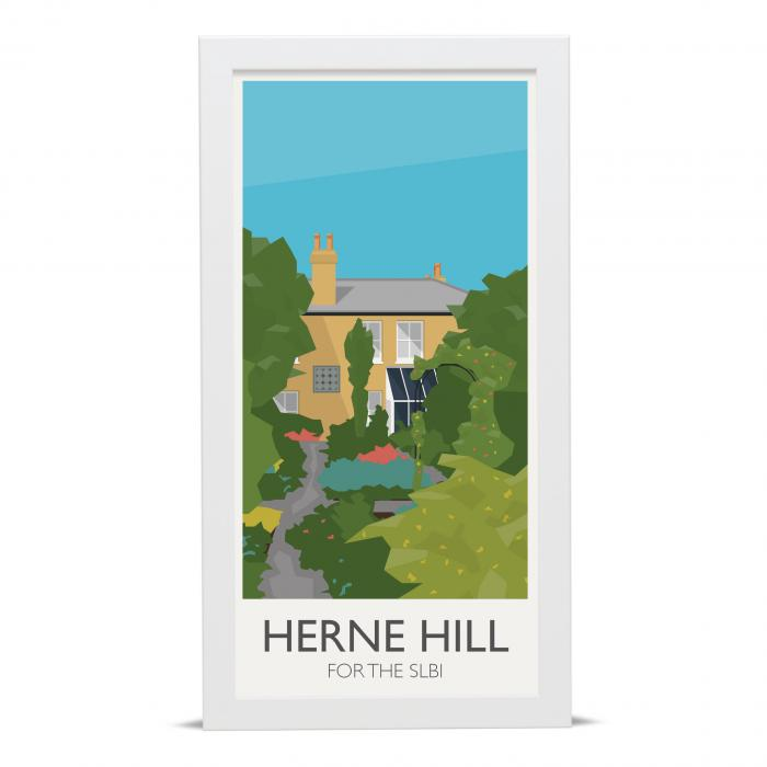 Place in Print Herne Hill Lamppost Banners South London Botanical Insitute SLBI Art Poster Print