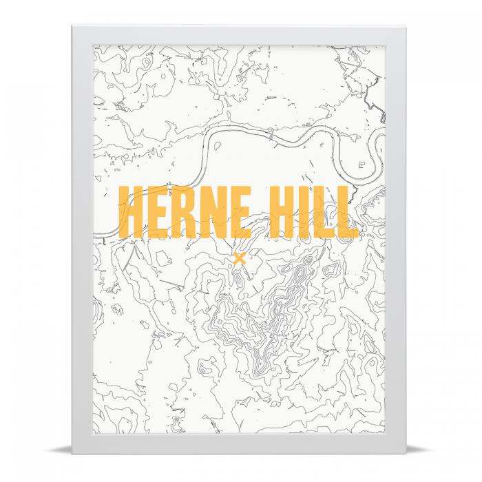 Place in Print Herne Hill Contour Map Art Print
