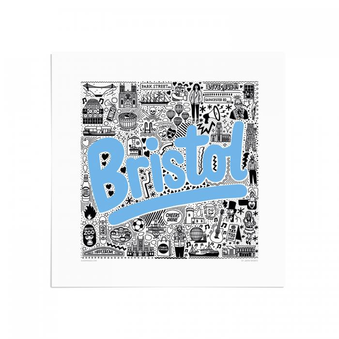 Place in Print Jenni Sparks Bristol Hometowns Art Print
