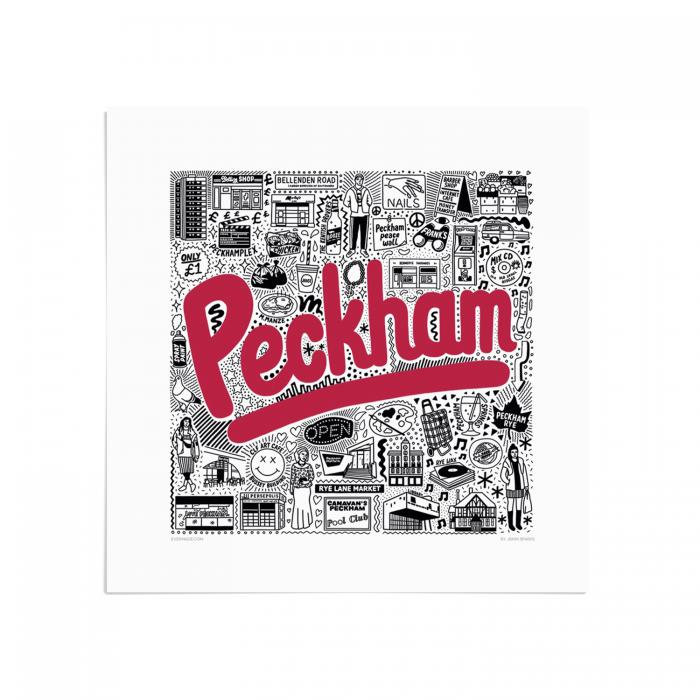 Place in Print Jenni Sparks Peckham Hometown Art Print