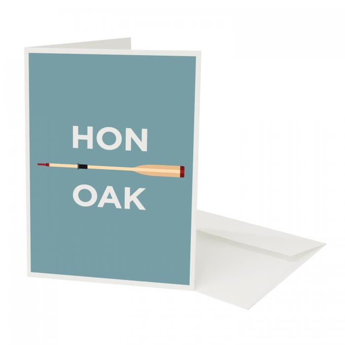 Place in Print Honor Oak Pate Neighbourhood Pun Greetings Card