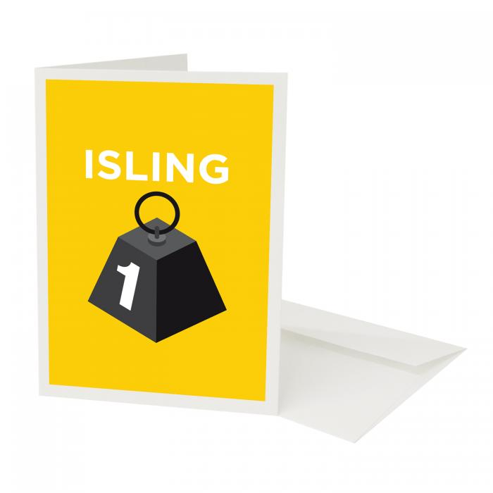 Place in Print Pate Islington Neighbourhood Pun Greetings Card