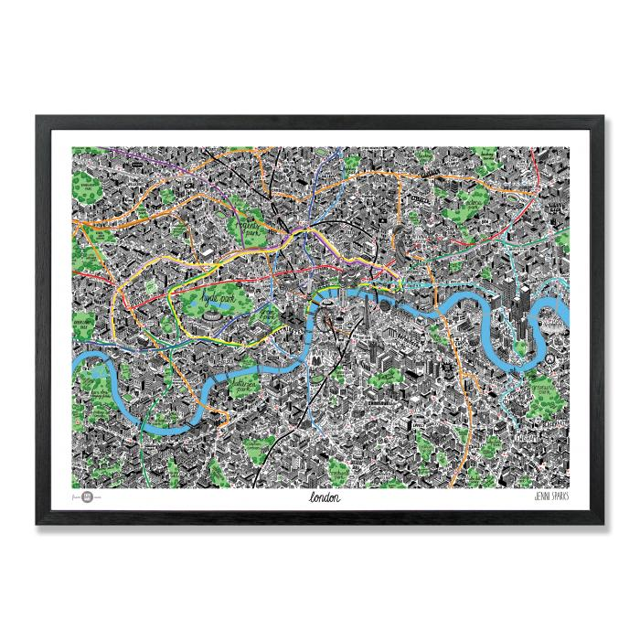 Place in Print Jenni Sparks London Hand Drawn Map
