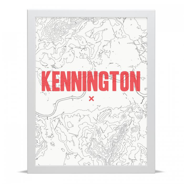 Place in Print Kennington Contour Map Art Print