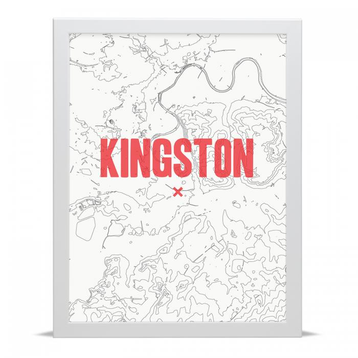 Place in Print Kingston Contour Map Art Print