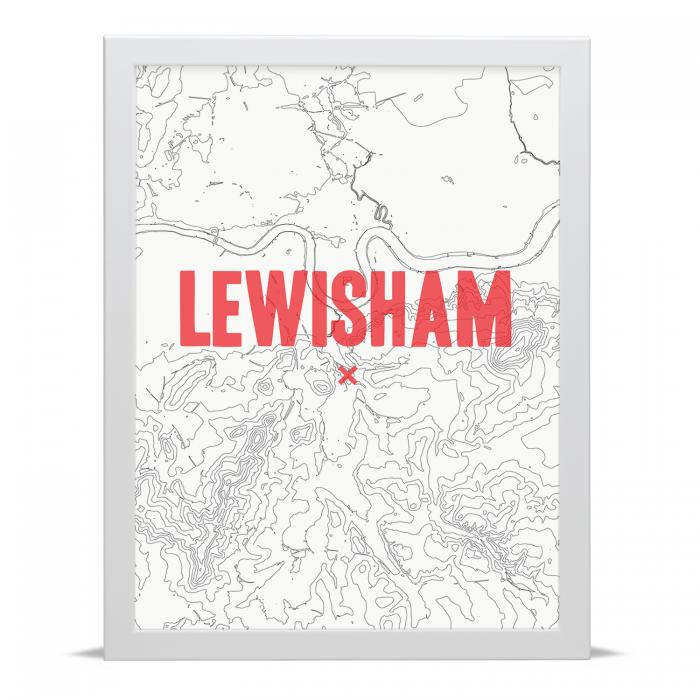 Place in Print Lewisham Contour Map Art Print