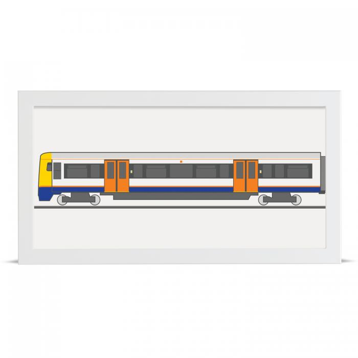 Place in Print London Overground Class 378 Train Back Section Art Print