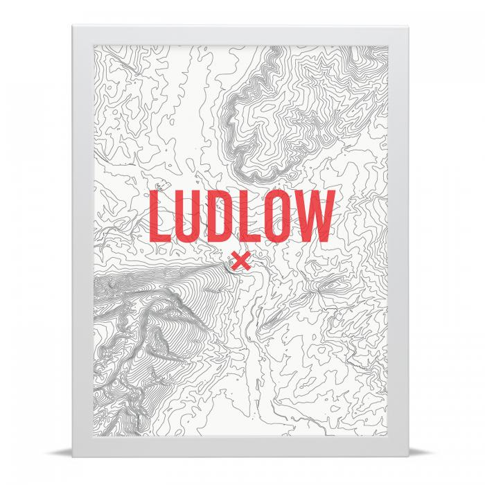 Place in Print Ludlow Contour Map Art Print