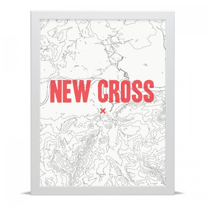 Place in Print New Cross Contour Map Art Print