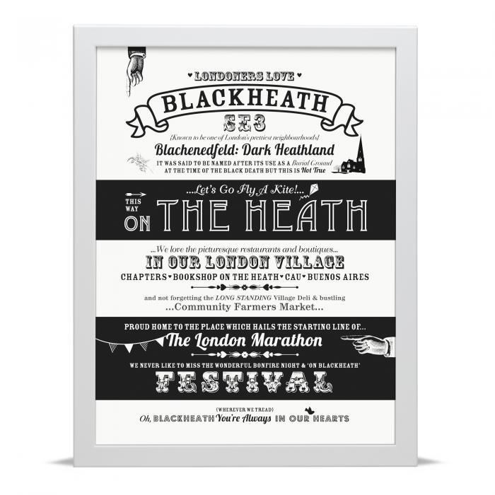Place in Print Octavia Plum Blackheath Love Your Location Art Print
