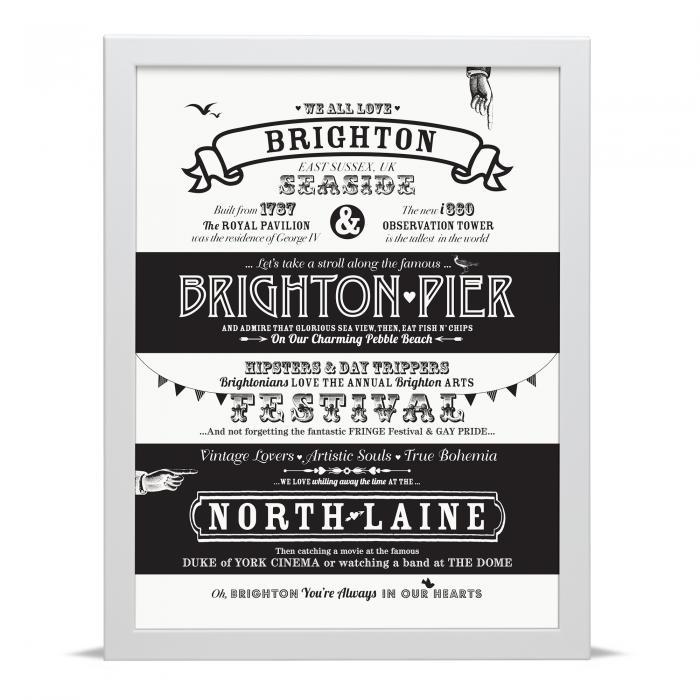 Place in Print Octavia Plum Brighton Love Your Location Art Print