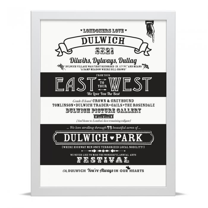 Place in Print Octavia Plum Dulwich Love Your Location Art Print